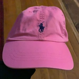 Pink polo hat cap